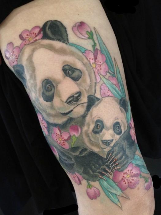 Tattoo portfolio hubtattoo michael norris for Baby panda tattoo
